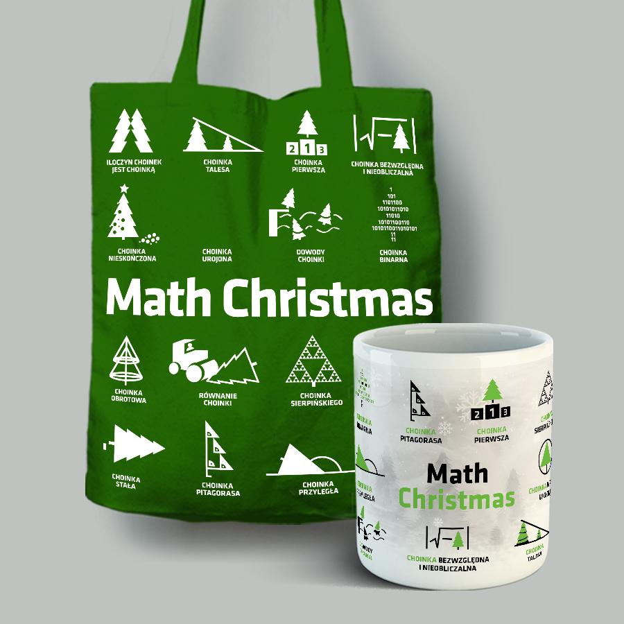 Zestaw torba bawełniana (zielona) + kubek porcelanowy z nadrukiem